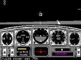 Chuck Yeager's Advanced Flight Simulator ZX Spectrum This is flight instruction. The plane, a Cessna, starts in the air. messages about the controls are displayed along the bottom of the screen