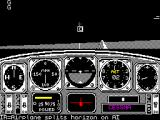Chuck Yeager's Advanced Flight Simulator ZX Spectrum Elevator setting 1/3 up, VR=Glareshield to horizon, IR=Airplane splits horizon on AI. are the last three messages