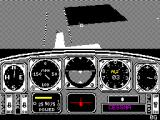 Chuck Yeager's Advanced Flight Simulator ZX Spectrum The test flight can continue on its own or the player can take control, here the plane is in a bit of a dive