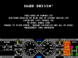 Hard Drivin' ZX Spectrum The game loads very quickly. This is the first screen that the player sees