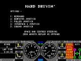 Hard Drivin' ZX Spectrum Then comes the game's main menu