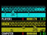 Rad Ramp Racer ZX Spectrum The race is the est of three two-minute legs. After two minutes, or something close to two minutes, the races just freeze on the spot