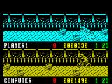 Rad Ramp Racer ZX Spectrum The skateboarder is down again and this time the collision has definitely been detected far too soon