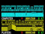 Rad Ramp Racer ZX Spectrum Here the roles are reversed and player 1 is on the BMX. Same course as before and the same result