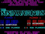 The Ninja Warriors ZX Spectrum This is the games main menu. here the game will be played in single player mode with a kempston joystick
