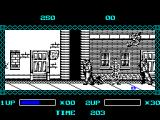 The Ninja Warriors ZX Spectrum When outnumbered - leap over their heads