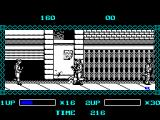 The Ninja Warriors ZX Spectrum The game scrolls slowly forcing the player to fight rather than race through the level. The pace does not change, even when Ninja man is as far to the right as possible