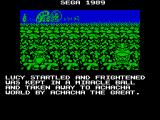 Dynamite Düx ZX Spectrum One day Lucy was playing in the garden with her pet, Bin the duck, in a beautiful flower garden. Then suddenly Achacha the great appeared and carried her off