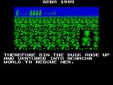Dynamite Düx ZX Spectrum So the duck goes off to rescue his friend