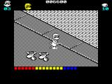 Dynamite Düx ZX Spectrum Its not necessary to fight everything in sight, Bin can walk past these cow heads unmolested