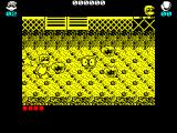 Dynamite Düx ZX Spectrum This end of level boss is tougher, it shoots out stars,  and Bin has no weapons