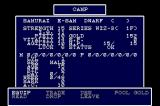 Wizardry III・IV  TurboGrafx CD Status screen