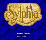 Sylphia TurboGrafx CD Title screen