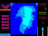 Ajax ZX Spectrum 128 K version : The first part of level 1 is a series of waves of fighters that appear out of the clouds like this