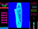 Ajax ZX Spectrum Eventually the ship succumbs and is destroyed by a series of explosions. The score on the right seems to increase with each one until ....