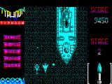 Ajax ZX Spectrum Part way through level 2 - this looks as if it could be the boss ship but its not, its just scenery.