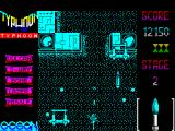 Ajax ZX Spectrum Next are more gun turrets and planes whose bombs explode and scatter shells across the screen