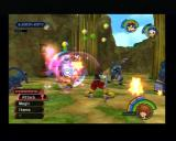 Kingdom Hearts PlayStation 2 Whacking the minions of darkness always give you back some health or mana balls.