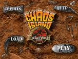 Chaos Island: The Lost World - Jurassic Park Windows Main Menu