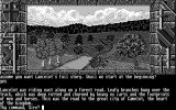 Lancelot Atari ST Starting the game (Monochrome)