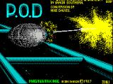 P.O.D.: Proof of Destruction ZX Spectrum This screen displays as the game loads