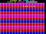 P.O.D.: Proof of Destruction ZX Spectrum This is the start of level 1. The aliens are the string of six balls at the top of the screen. The player controls the point at the bottom of the screen