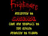 Frightmare ZX Spectrum Title and credits