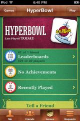 HyperBowl Arcade Edition iPhone Game Center screen