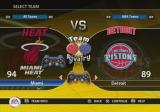 NBA Live 09 PlayStation 2 Choosing both teams.