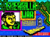 Guerrilla War ZX Spectrum This screen displays as the game loads
