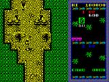 Guerrilla War ZX Spectrum A little further on are two more guards, each behind sandbags. Both have just thrown grenades, hence the pair of craters. Behind is a hostage who usually gets killed