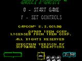 Ghouls 'N Ghosts ZX Spectrum Start the game or choose controls