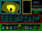 "Post Mortem ZX Spectrum ""You are in a tunnel without end, with a strong glow at the bottom. Notes guide someone mentally. You can go to the bottom, left or right."""