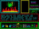 Post Mortem ZX Spectrum You have fallen into the clutches of Satan and he has eaten you as programmer soup with garlic. End of the Game. Keystroke. Try again ...