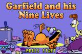 Garfield and his Nine Lives Game Boy Advance Title screen