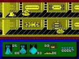 I-Alien ZX Spectrum The yellowy grey swan like thing is an ice-dragon. If Alien's energy is low contact with it will temporarily freeze him to the spot