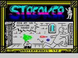 Streaker ZX Spectrum Loading screen
