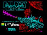 Galaxy Force II ZX Spectrum This screen displays as the game loads