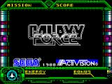 Galaxy Force II ZX Spectrum When loading is complete the title screen displays