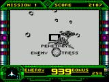Galaxy Force II ZX Spectrum The enemy base gradually looms larger. There's a clear spell with no ships to shoot at, up pops a message and suddenly there they are again, trying to force the player off course