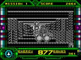 Galaxy Force II ZX Spectrum The plain gives way to another passageway. At times it can be very hard to see the ship