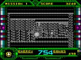 Galaxy Force II ZX Spectrum Now the corridor starts to twist left and right and it becomes really hard to see the ship