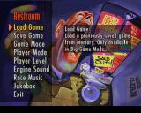 Road Rash PlayStation The restroom menu options.