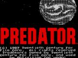 Predator ZX Spectrum Title scrolling over the screen