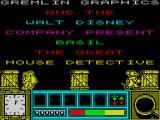 Basil the Great Mouse Detective ZX Spectrum Title screen