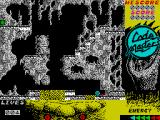 Bigfoot ZX Spectrum The start of the game. Bigfoot drops in onto the platform just left of centre. He sort of steams for a bit