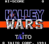 Halley Wars Game Gear Title screen
