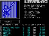 Tales of the Unknown: Volume I - The Bard's Tale ZX Spectrum After choosing to fight the player must then select an action for each member of their party