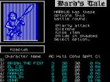 Tales of the Unknown: Volume I - The Bard's Tale ZX Spectrum Markus is going to perform a Party Attack.