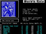 Tales of the Unknown: Volume I - The Bard's Tale ZX Spectrum Only to be attacked by three mercenaries ....